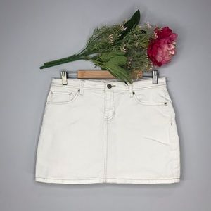 GAP Jeans | White Denim Mini Skirt SZ 8